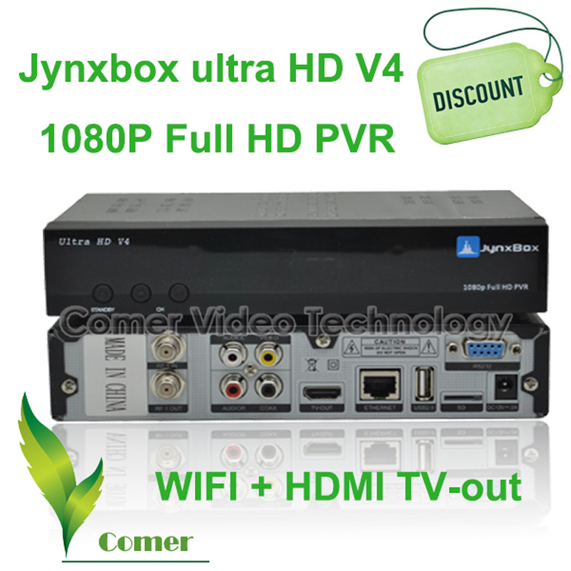 Free shipping Jynxbox v4 Satellite Receiver with JB 200 tuner ,High Definition Jynxbox Ultra V4 in North American(China (Mainland))