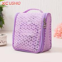 Buy Fashion Lace Lady Storage Bag Portable Waterproof Makeup Bag Toiletry Bag Travel Storage Handbag Organizer Case for $6.34 in AliExpress store