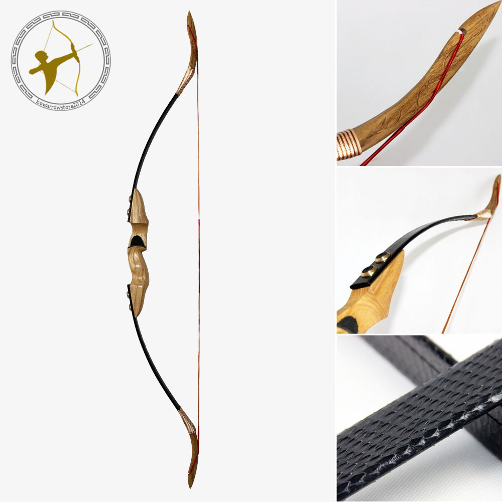 Free Shipping New 50 LBS 28 inches Outdoor Sport Archery Traditional Take Down Hunting Shooting Black