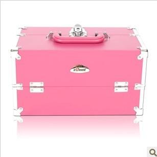 Waterproof Pink professional cosmetics portable multi-layer - Xinhua Hu's Store---Welcome store