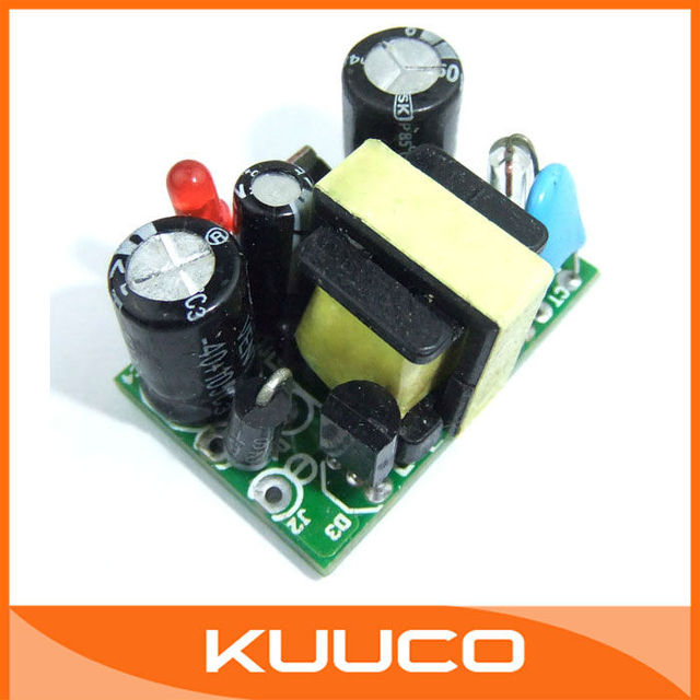 5 pcs/lot AC 90~240V To DC 5V Buck Converter 3 Watt 300mA Volt Regulated LED Switching Power Supply Circuit Module #090859