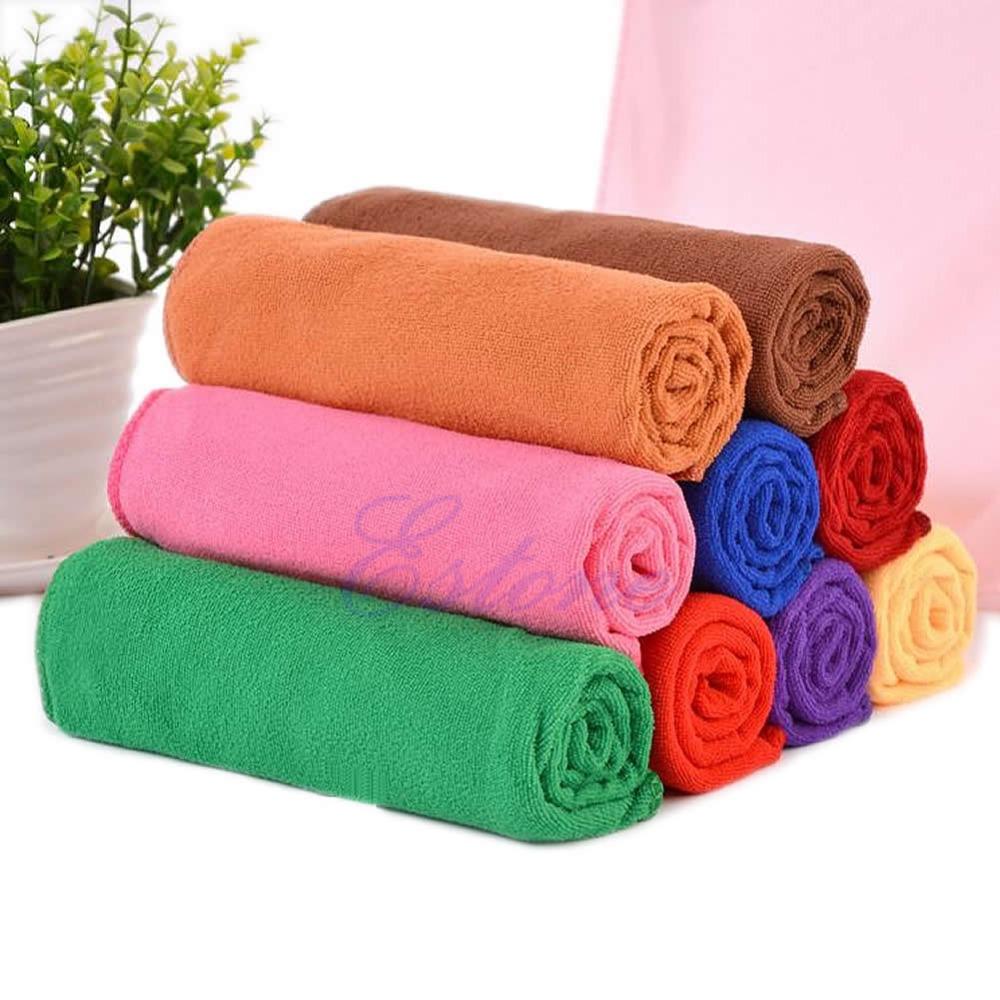 Microfiber Absorbent Bath Beach Towel 70x140cm Drying Washcloth Swimwear Shower