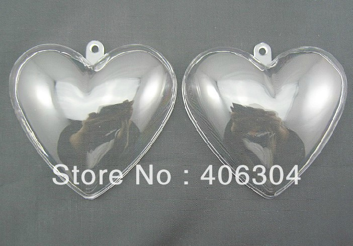 free shipping 6 5cm transparent clear hanging heart candy