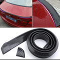 Universal PU Carbon Fiber Trunk Lip Spoiler or Roof Spoiler Body Kit Trim Sticker 1 5