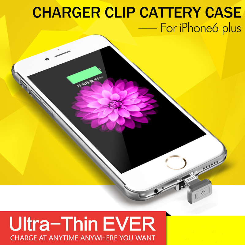 Hot!Ultra thin External Power bank case for iPhone6 plus Power Bank Back Case for iPhone 6 Backup Charger Holder with LED Light(China (Mainland))