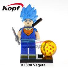 Única Venda Super Heróis Figuras De Dragon Ball Z Goku SSJ3 Freiza Celular Perfeito Majin Buu Building Blocks Brinquedos Para Crianças Presente KF984(China)