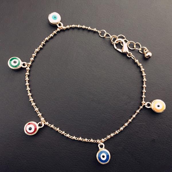 Europe and America jewelry manufacturers wholesale Evil eye bracelet Turkey blue evil eye enamel bracelet best gift jewelry(China (Mainland))