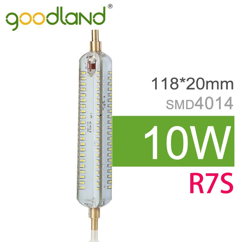 Goodland Brand R7S LED Lamp 118mm 10W SMD4014 Lampada LED R7S Light Bulb 220V 240V Energy Saving Perfect Replace Halogen Light(China (Mainland))