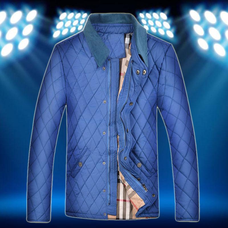 Brand new Luxury Mens jackets and coats winter 2015 men coat and jacket outdoor zipper plaid jacket(China (Mainland))