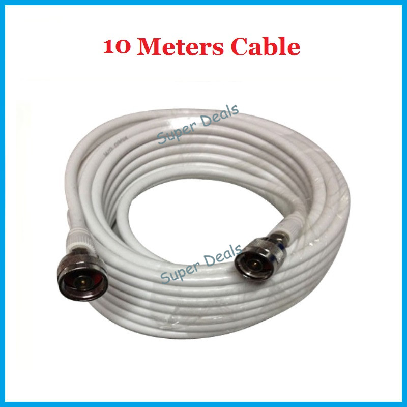 Free shipping 10M TV CABLE 75-5 with N connector Coaxial Cable for Digital Video MOBILE PHONE SIGNAL booster repeater amplifier(China (Mainland))