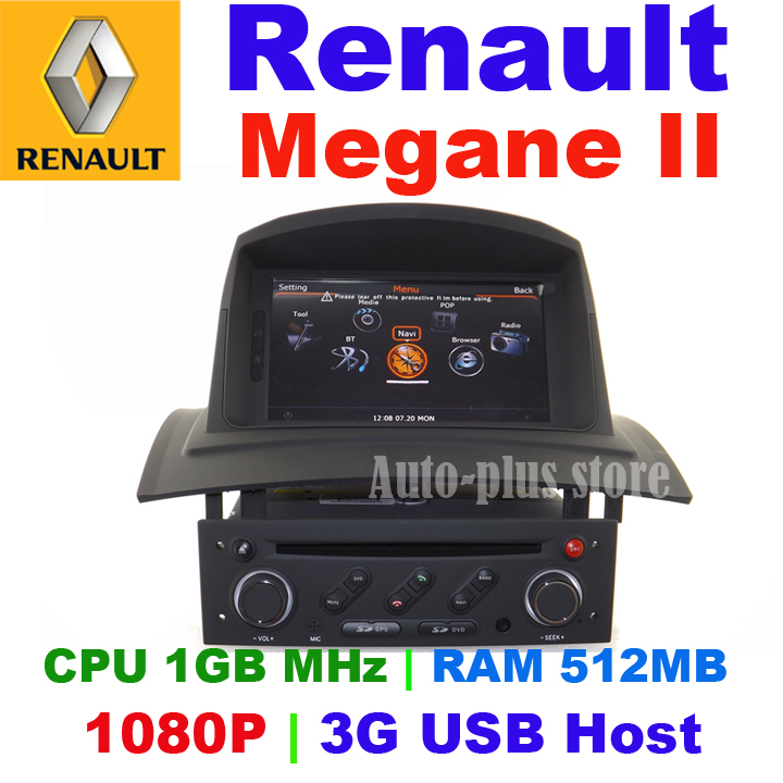 Car DVD for Renault Megane II 2006-2008 head unit Radio GPS with Cortex A8 chipset/CPU 1GB MHz/RAM 512MB/ 3G USB Host/(China (Mainland))