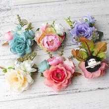 Buy Korean Style Bridal Flower Leopard Hair Clip Hairpins Barrette Wedding Decoration Hair Accessories Beach Hairwear for $2.39 in AliExpress store