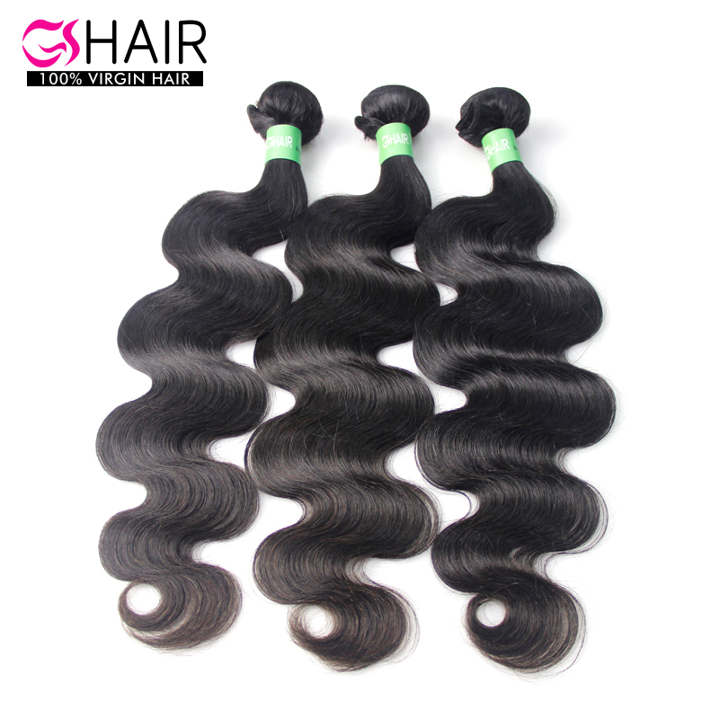 Brazilian Virgin Hair body wave Human Hair Weave best selling natural colour wavy hair extension 3pcs/lot mixed lengths 8-36inch(China (Mainland))