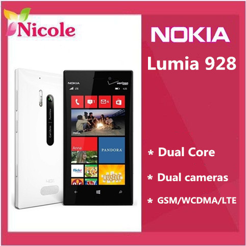 Unlocked Original Nokia Lumia 928 Windows Phone 4.5'' Dual Core 1.5GHz 32GB 8.7MP NFC 3G Unlocked Cell phone Refurbished(China (Mainland))