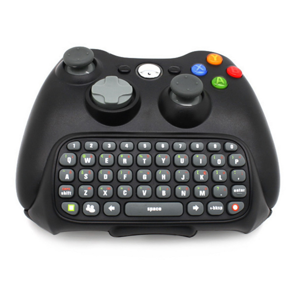Black Wireless Messenger Chatpad Keyboard Keypad Text Pad for Xbox 360 Xbox360 Controller happy time Wholesale(China (Mainland))