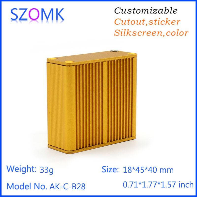 (4pcs) extruded aluminum enclosure control box 18.5*45*40mm project box for Diy housing outlet box instrument case pcb enclosure<br><br>Aliexpress