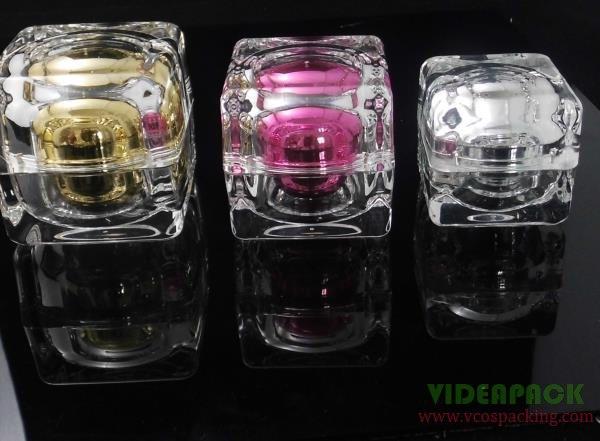 30g acrylic jar,cream jar,cosmetic jar,acrylic bottle double wall diamond shape