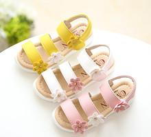 2016 sandals girls beach shoes melissa baby footwear toddler jelly flip flops child kids infant gladiator flower princess style(China (Mainland))