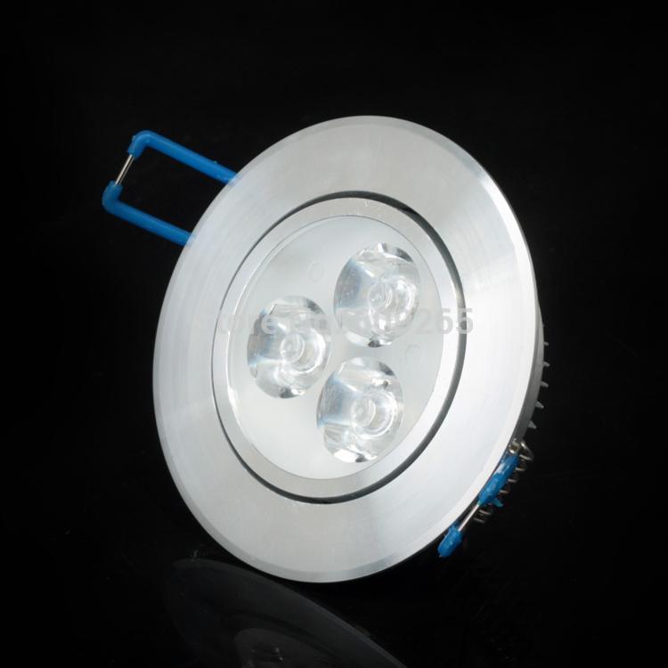 6w 9w led downlight dimmable recessed spot light ac110v 220v 240v led. Black Bedroom Furniture Sets. Home Design Ideas