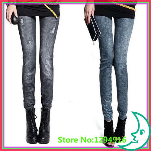 2014 new women thin Ladies wild snow Denim jeans Leggings pencil pants nine antnmn winter warm LE9004 - Fashion Zoon No.1 store