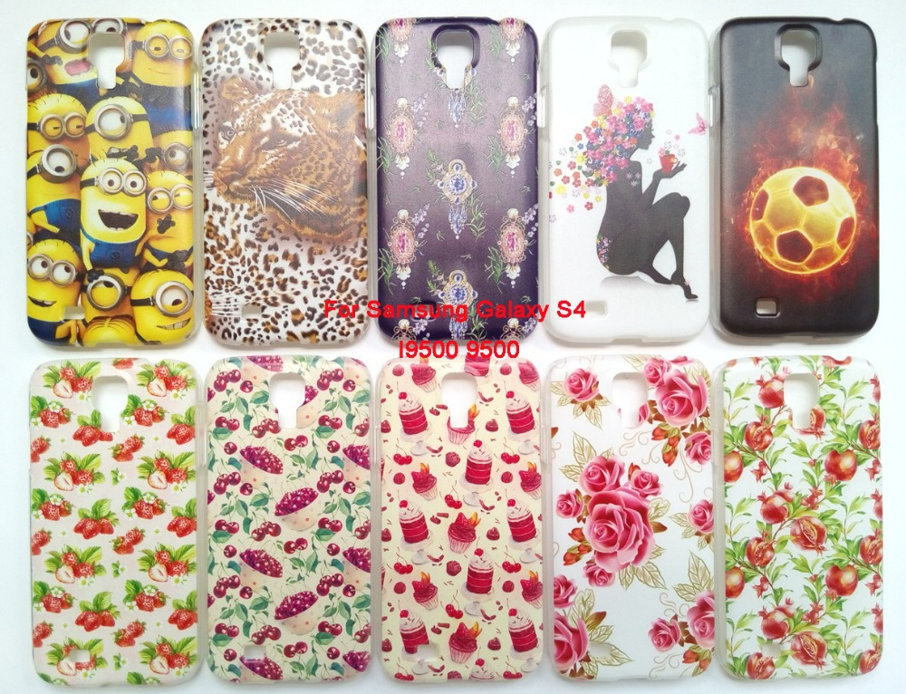 Patterns Covers Samsung Galaxy S4 i9500 Case Hard Plastic Back Cover Flower Phone cases Free - DingPing Technology Co. Ltd store