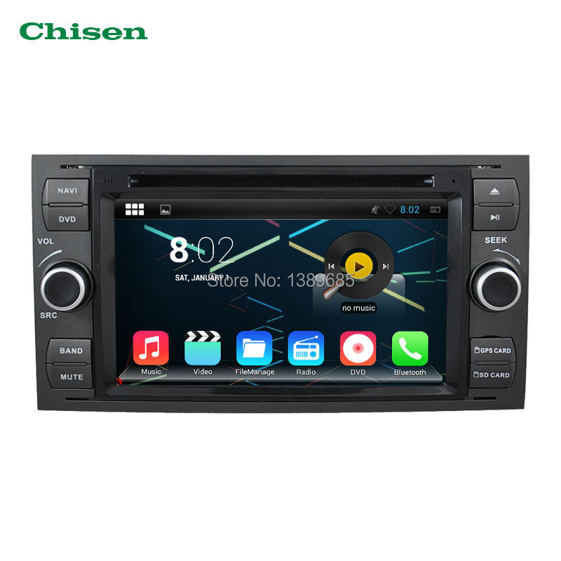 Android 4.4.4 Quad Core 1.6GHZ 2Din 7Inch Indash Car DVD Player For Ford Mondeo Focus Transit C-MAX With Wifi GPS BT FM Free Map(China (Mainland))