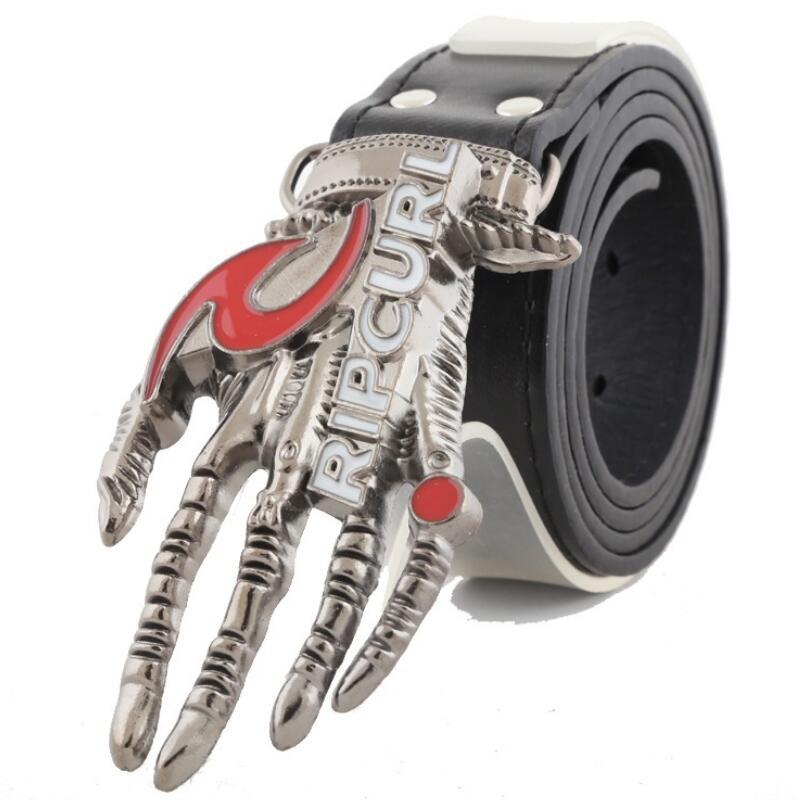 Men Leather Belt Designer Belt Buckles Men's Skull Rock Hip-Hop Punk Non-Mainstream on Hand Man Belts Brand Leather Men's Belts(China (Mainland))