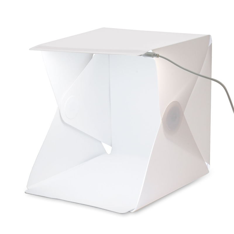 Mini Photo Studio Box Portable Photography Backdrop Built-in Light Photo Box Little Items Photography Backdrop Box lightbox(China (Mainland))
