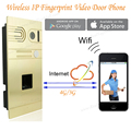 DIY Wireless Wifi IP Fingerprint Video Door Phone Wireless IP Intercom System Home Intercoms Remote Control