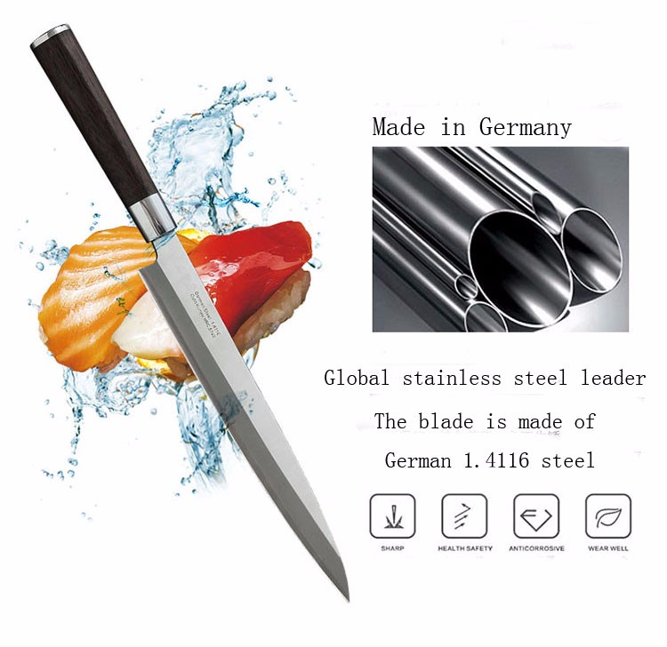 Buy Free Shipping LD 5Cr15Mov Professional Western Style Cuisine Knife Kitchen Sashimi Cooking Salmon Fish Chef Knives Cleaver cheap