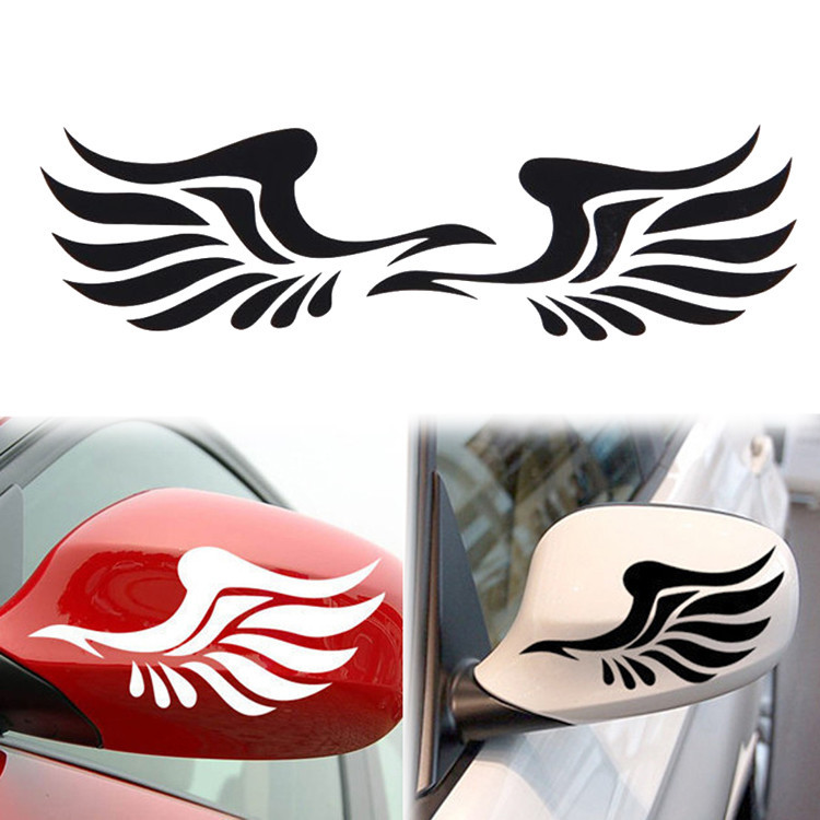Wings Pattern car-styling Cartoon Motorcycle Sticker For ford opel vw kia golf 11.7 * 6.5 Glue Car Stickers For peugeot renault(China (Mainland))