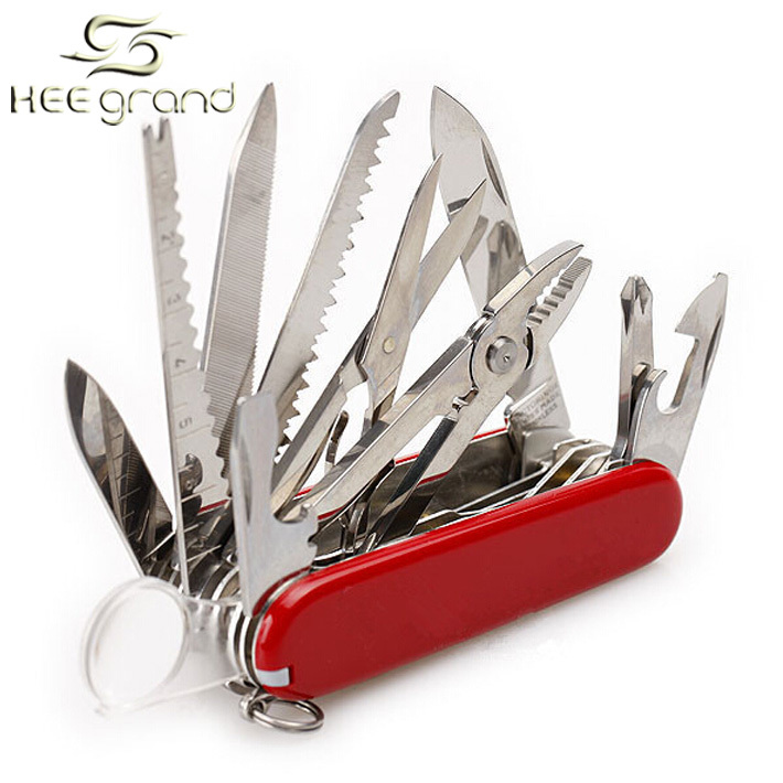 Useful Knife Convenient 31 Kinds Of Function Multifunctional Camping Tool ZBJ027(China (Mainland))