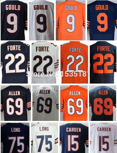 new cheap hot/ Mens American Football Jerseys 9 Robbie Gould 22 Matt Forte Jersey 15 Shane Carden 75 Kyle Long 69 Jared Allen Bl