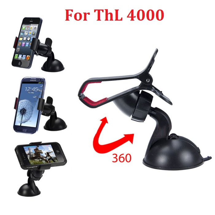 360 rotate Car Windshield Mount Cell Mobile Phone Holder Bracket Stands for ThL 4000 and GPS(China (Mainland))