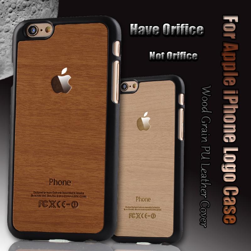Royal Retro Fashion Wood grain PU Leather Original Phone Back Case For Apple iPhone 6 6S/6 PLUS 6S PLUS Slim PC Hard Cases Cover(China (Mainland))