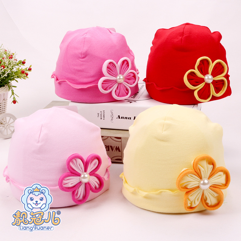 Cute Sweet baby Princess Caps Children Kids Girls Baby Hat fashion Flowers 4 color baby Caps(China (Mainland))