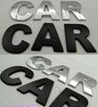 1 PC DIY Chrome 3D Self adhesive Letter Number 2 5cm Car Badge Emblelm Sticker for