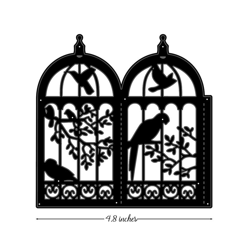 Bird Lanterns Metal Cutting Die Cut Dies Decoration Scrapbook Paper Card Craft
