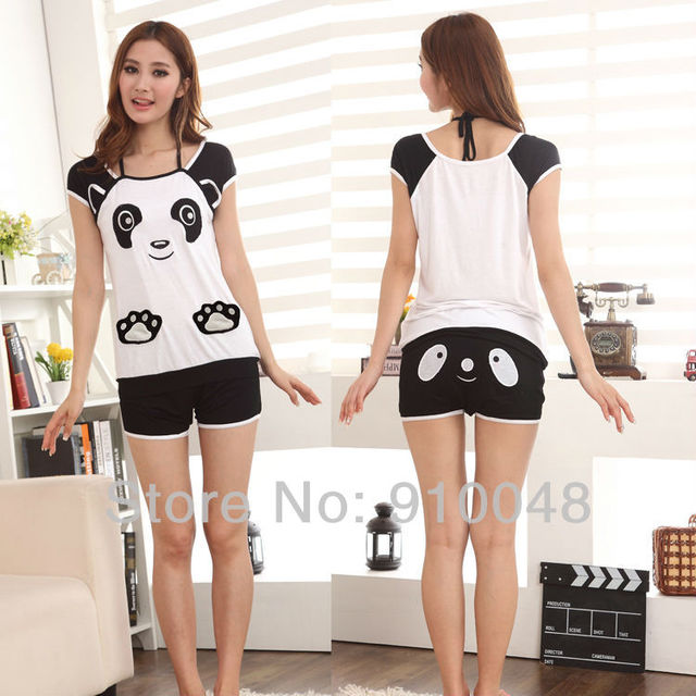 2015 new women  bear embroidery  modal pajamas   women sleepwear fashion women summer nightwear