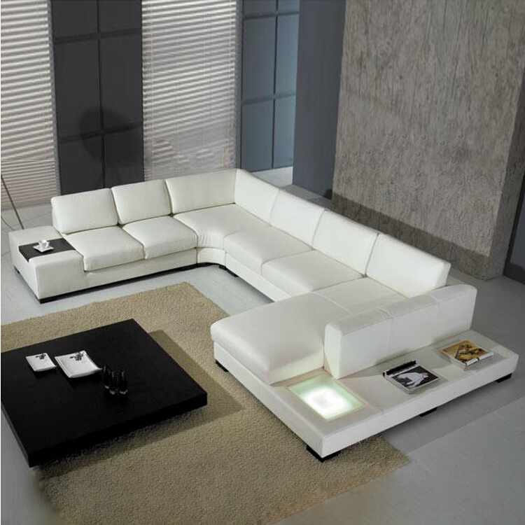 2015 new style modern sofa hot sales home used real leather sofa