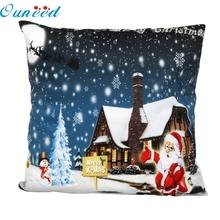 Buy New Home Decorative Christmas Santa Pillow Case Sofa Waist Throw Cushion Cover Blue Home Decor Free 45cm*45cm Aug26 for $2.18 in AliExpress store