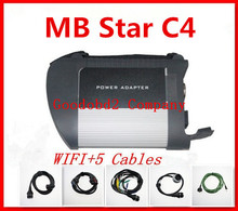 multi-languages MB Star C4 MB SD connect compact 4 with WIFI diagnosis multiplexer with full cables Newest version(China (Mainland))