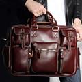Brand 2017 Men messenger bags genuine leather bag men briefcase designer handbags high quality famous brand