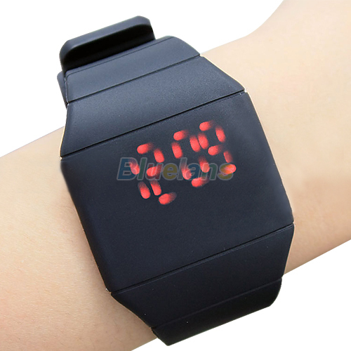 luxury Ultra-thin Fashion Mens Lady Women Touch Digital Red Led Silicone Sports Wrist Watch Silicone Band Novelty item for Gift<br><br>Aliexpress