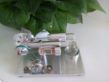 Envío gratis Base de aluminio de aire caliente motor Stirling modelo, Stirling Engine generador Base de aluminio y con el LED