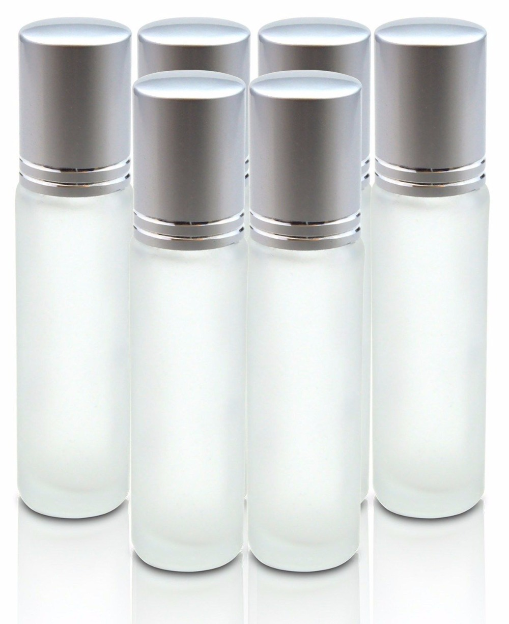 12PCS 10ML Portable Roll refillable Bottle Empty Glass Bottle for Essential Oils eye Massage Perfumes(China (Mainland))