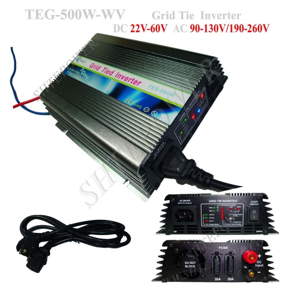 500W DC 22V-60V to AC 220V MPPT Solar Charge Controller Inverter Grid Tie(China (Mainland))