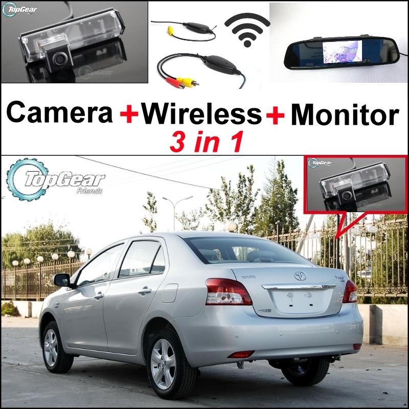 3in1 Special Camera + Wireless Receiver + Mirror Monitor DIY Parking System For TOYOTA Belta Vios Yaris Sedan XP90 MK2 2007~2013<br><br>Aliexpress