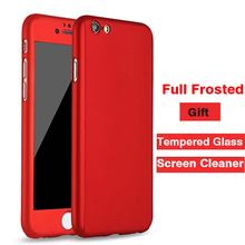Buy Full Frosted Matte PC phone case iPhone 7 Plus tempered glass cover case iPhone 6 6s plus case 4.7'' 5.5'' for $3.85 in AliExpress store