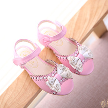kids shoes Princess girls sandals in the summer of 2016 new female children's shoes shoes elementary children's shoes bow 4617